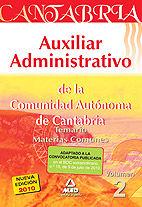 Auxiliar administrativo comunidad autonoma de cantabr