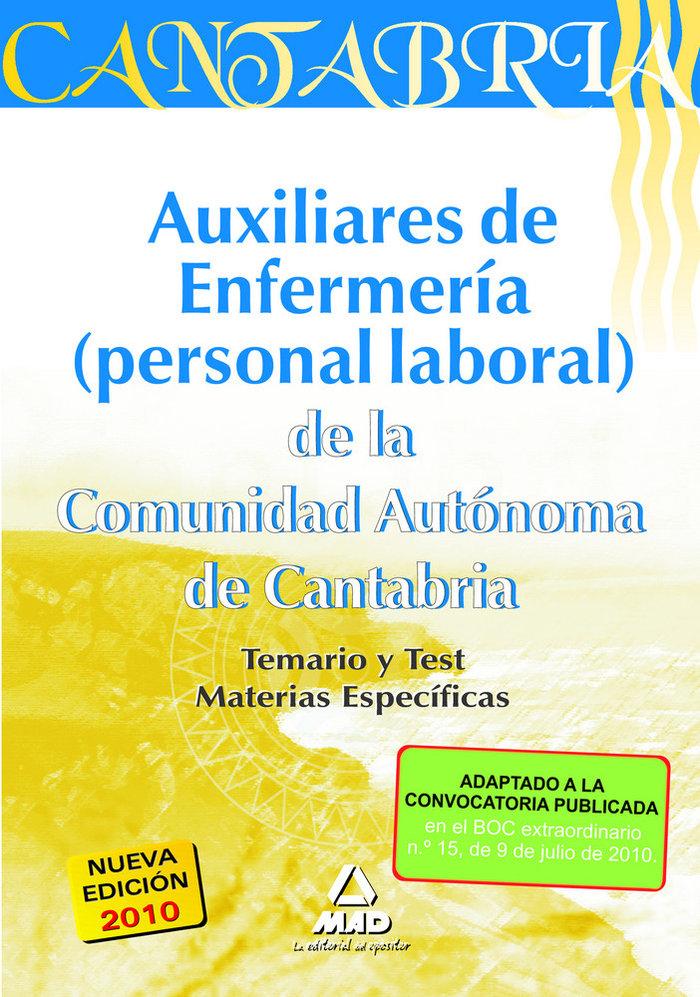 Auxiliares de enfermeria, personal laboral, comunidad autono
