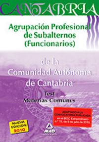 Agrupacion profesional de subalternos (funcionarios), comuni