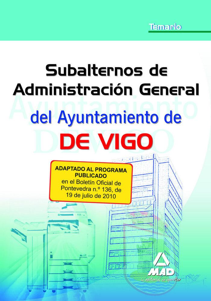 Subalterno de administracion general, ayuntamiento de vigo.