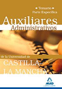 Auxiliares administrativos, universidad de castilla-la manch