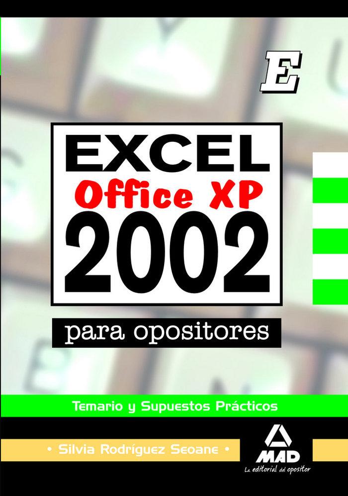 Excel 2002 para opositores temario y supuestos practic