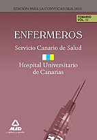 Enfermeros del servicio canario/ hopital universitario de ca