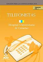 Telefonistas del hopital universitario de canarias. temario.