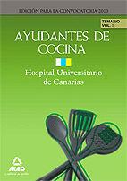 Ayudantes de cocina del hospital universitario de canarias.