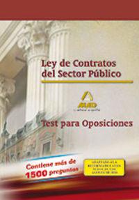 Ley de contratos del sector publico. test para oposiciones