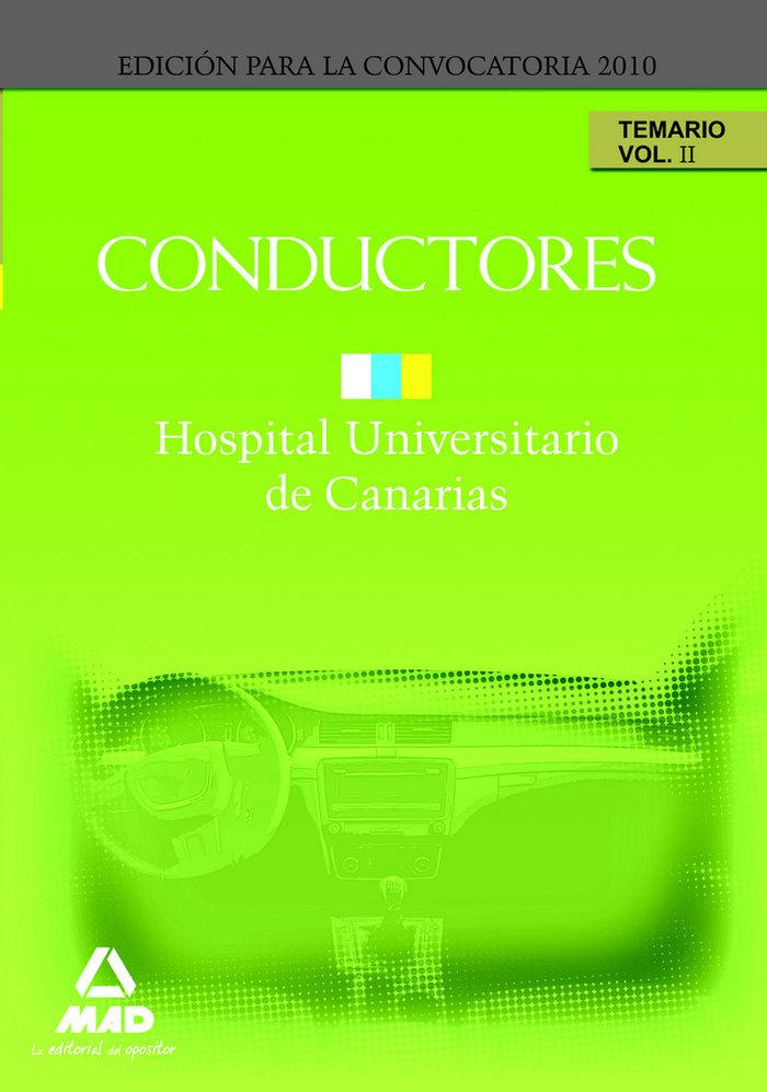 Conductores del hopital universitario de canarias. temario.