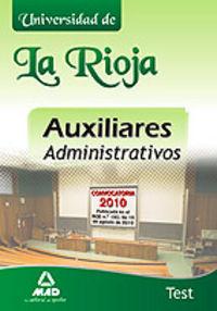 Auxiliares administrativos, universidad de la rioja. test
