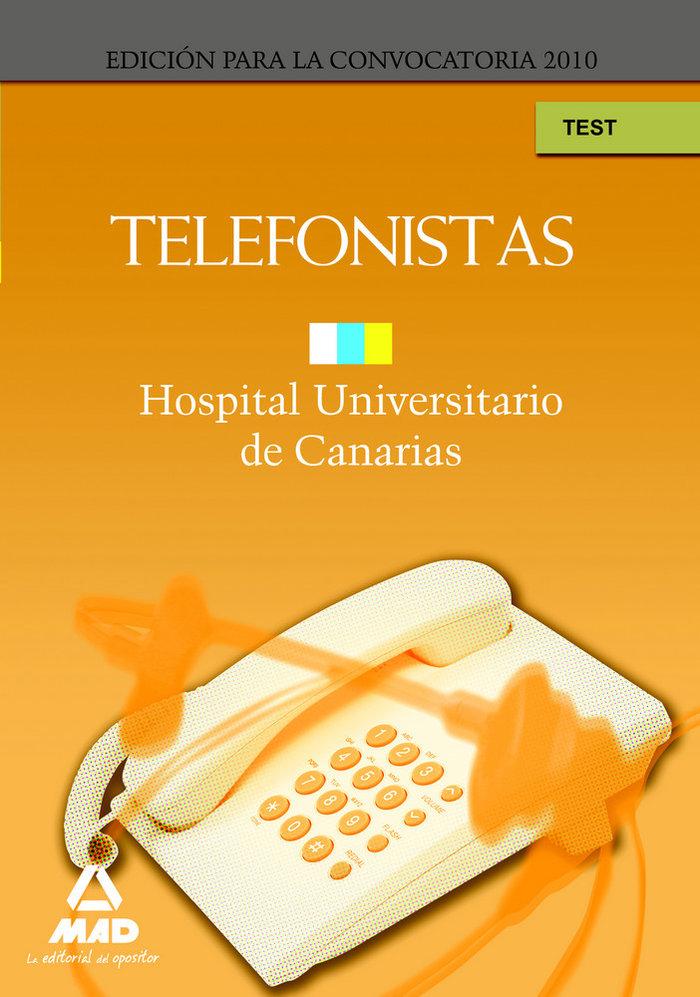 Telefonistas del hospital universitario de canarias. test