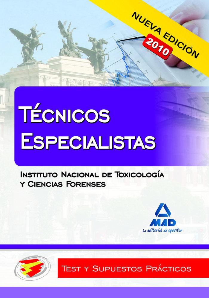 Tecnicos especialistas instituto nacional toxicologia test