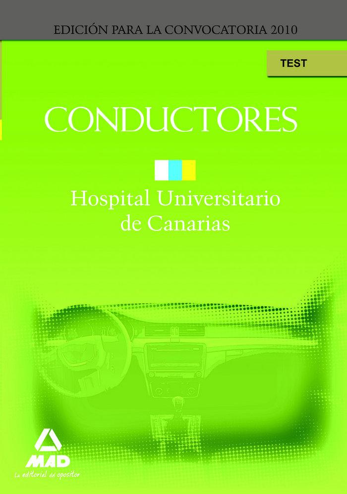 Conductores del hospital universitario de canarias. test
