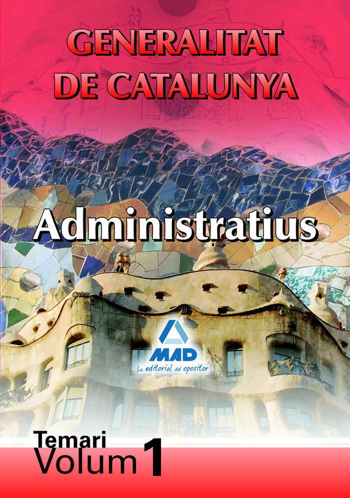 Administratius de la generalitat de catalunya. temari. volum