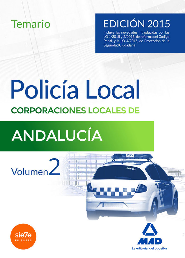 Policia local andalucia temario vol.ii 2015