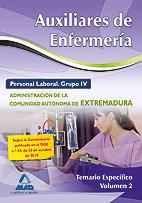 Auxiliar enfermeria vol.ii 2010 temario especifico extremadu