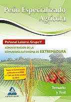 Peon especializado agricola extremadura temario y test