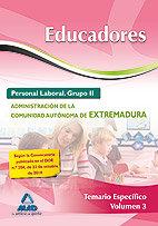 Educadores extremadura personal labo.ii 2010 temario vol.3