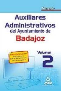 Ayuntamiento badajoz auxiliares admi. temario ii 2012