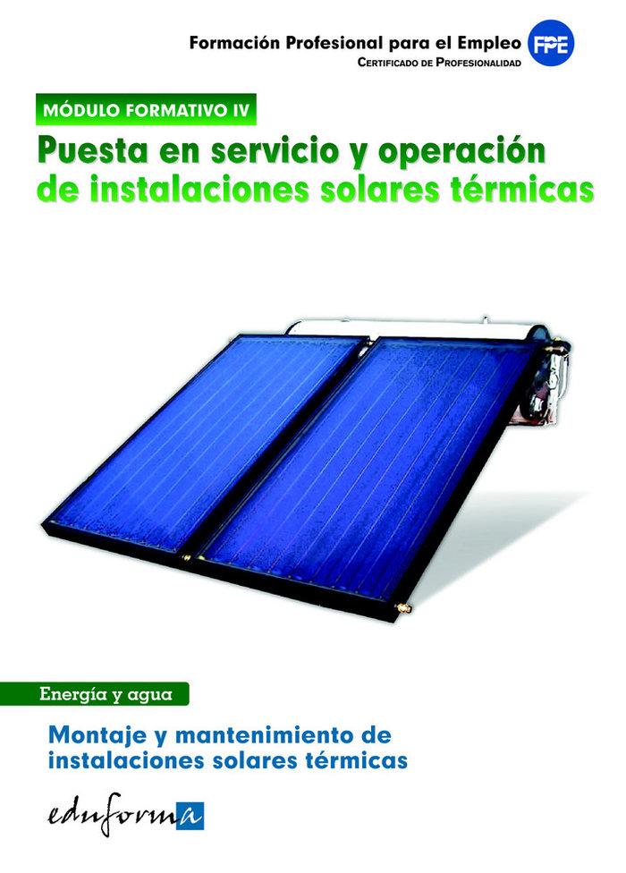 Puesta servicio y operacion instalaciones solares termicas