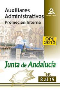 Auxiliar adm junta de andalucia promocion interna test 8-19