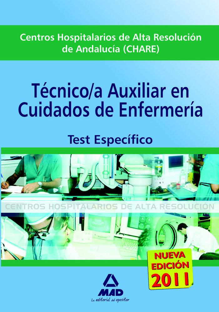 Cuidados aux. enfermeria chares andalucia test especifico
