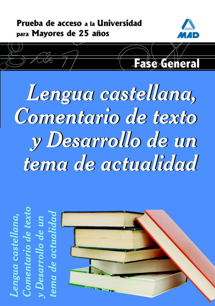 Lengua castellana prueba acceso univers.mayores 25 fg ne