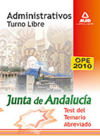 Administrativos, turno libre, junta de andalucia. test del t
