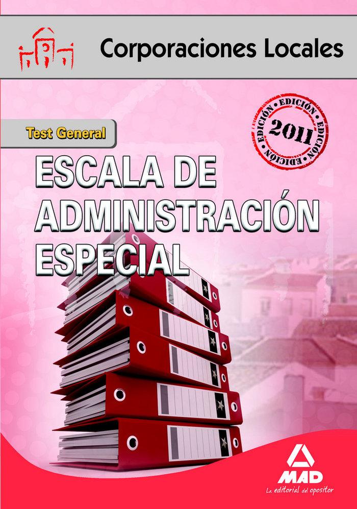 Escala administracion especial corporaciones locales comun