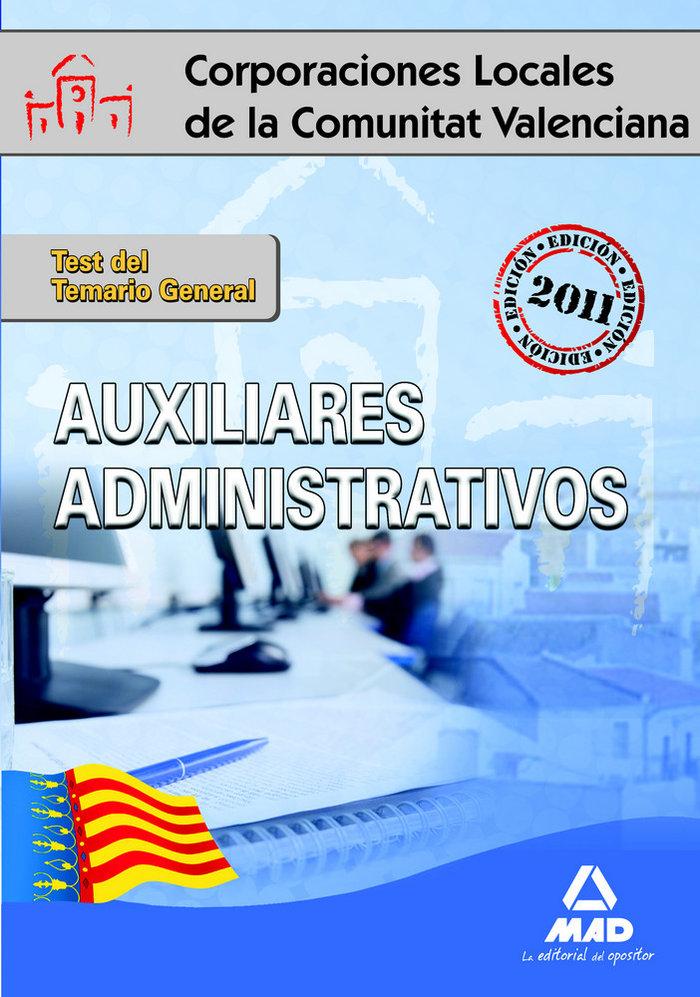 Auxiliares administrativos, corporaciones locales de la comu