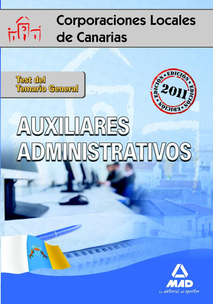 Auxiliares administrativos, corporaciones locales de canaria