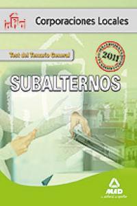 Subalternos, corporaciones locales. test del temario general