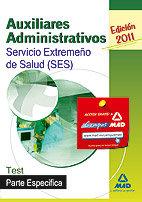 Auxiliares administrativos, servicio extremeño de la salud (