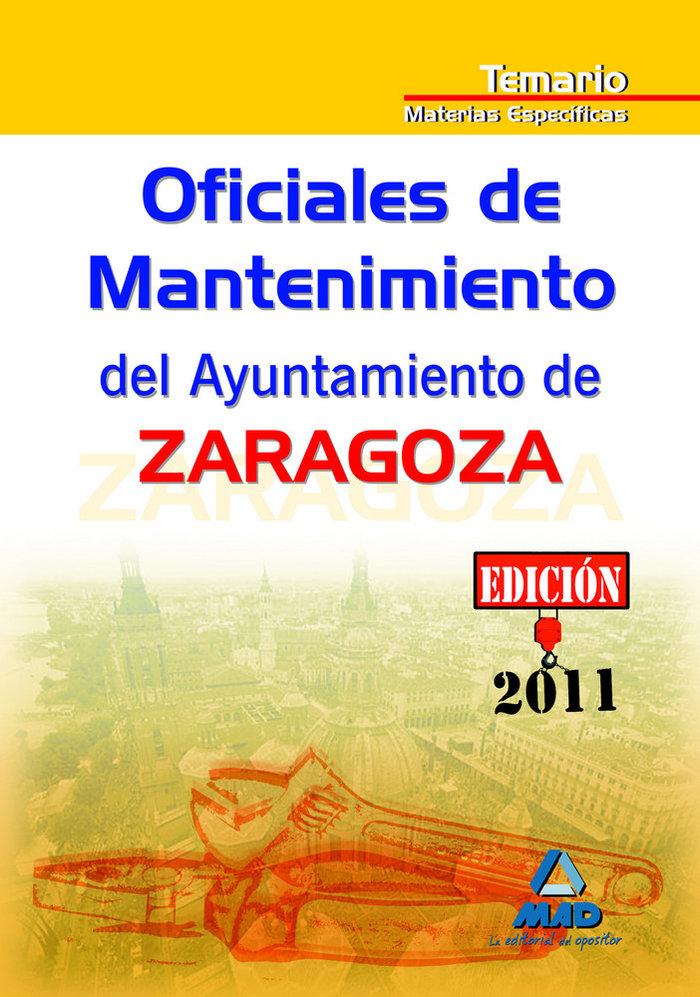 Oficiales de mantenimiento, ayuntamiento de zaragoza. temari