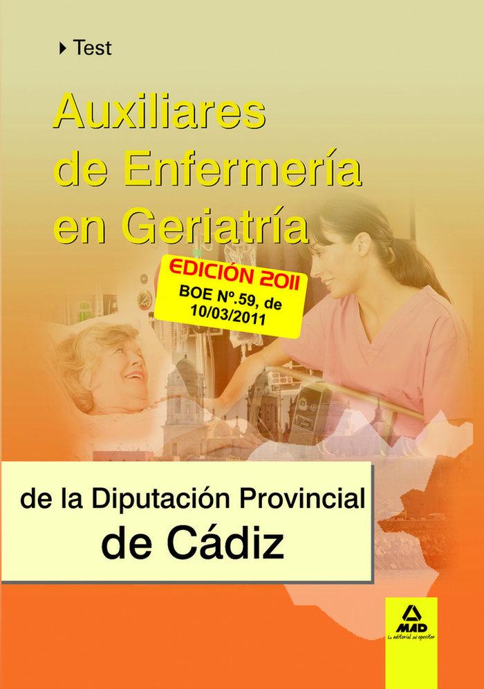Test auxiliares enfermeria geriatrica diputacion de cadiz