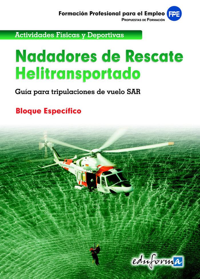 Nadadores de rescate heliotransportado especifico