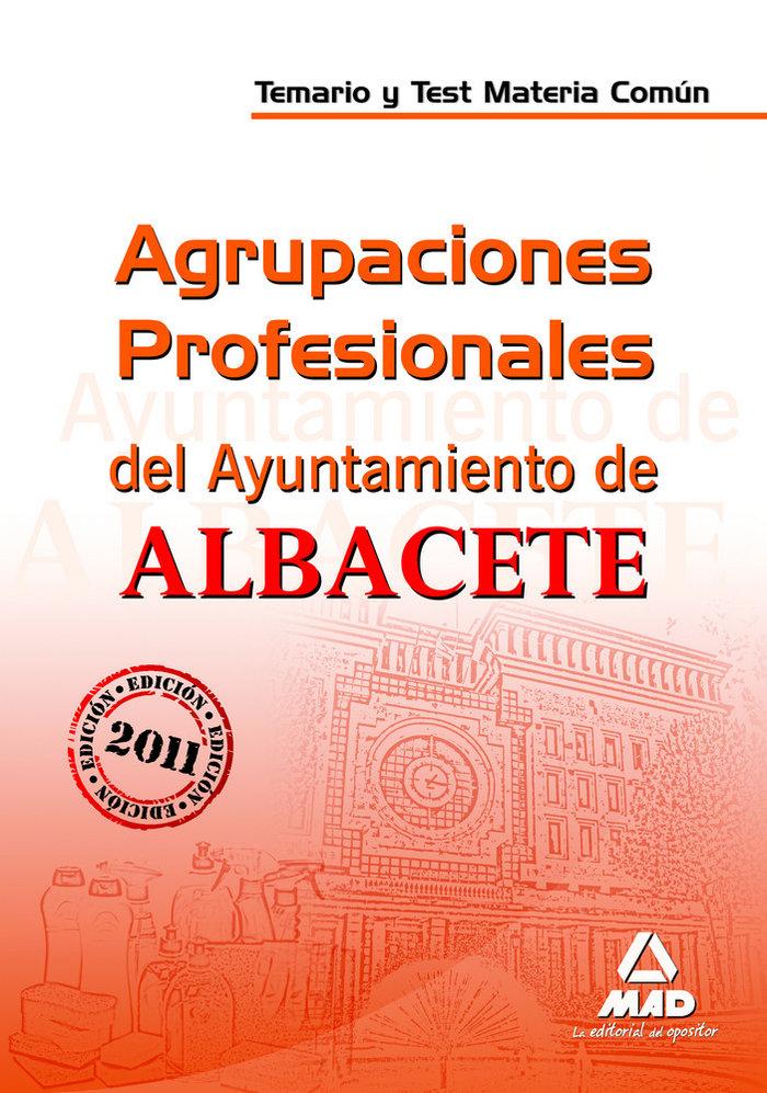 Agrupaciones profesionales, ayuntamiento de albacete. temari