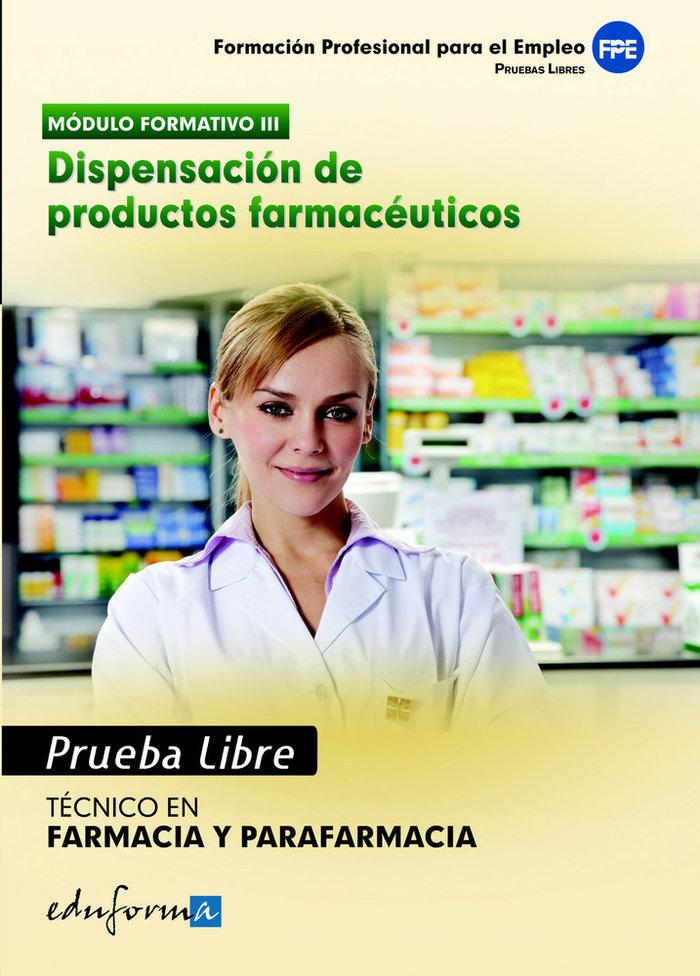 Tecnico en farmacia y parafarmacia prueba libre