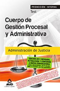 Gestion procesal adm. justicia promocion interna test