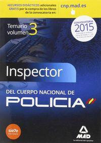 Inspector del cuerpo nacional de policia volumen 3 2015