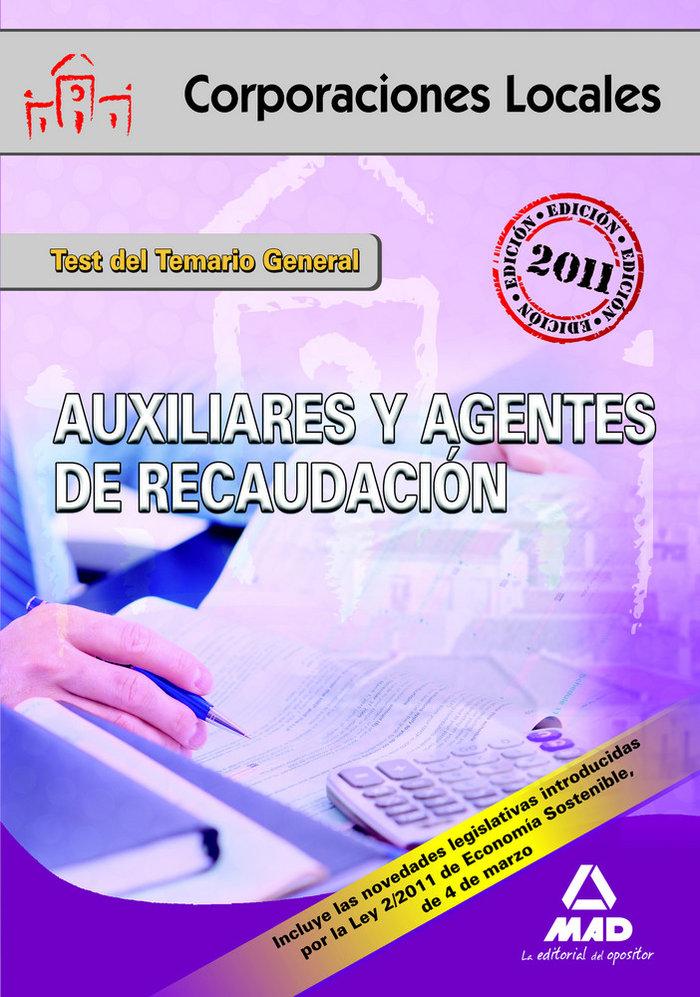 Test auxiliares agentes recacudacion local temario general 1
