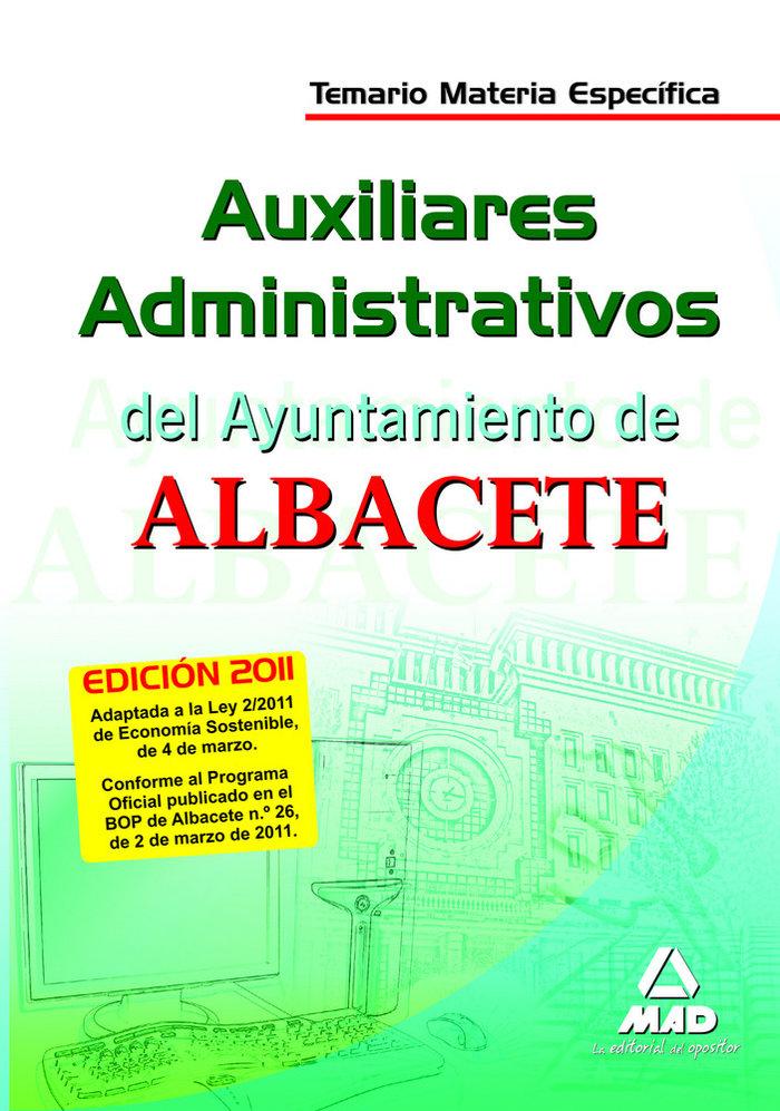 Auxiliares administrativos, ayuntamiento de albacete. temari