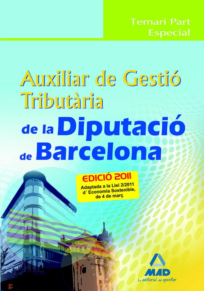 Auxiliar de gestio tributaria diputacio de barcelona. temar