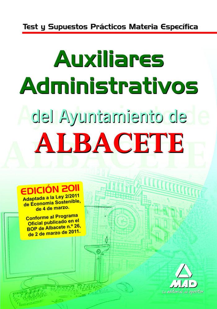 Auxiliares administrativos, ayuntamiento de albacete. test y