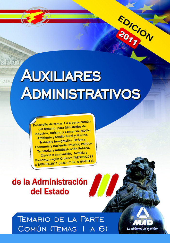 Auxiliar. administrativos admcion del estado temas 1-6