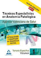 Tecnicos especialistas de anatomia patologica de la agencia