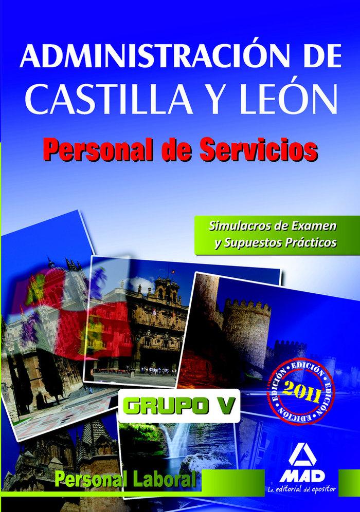 Personal de servicios, personal laboral, grupo v, administra
