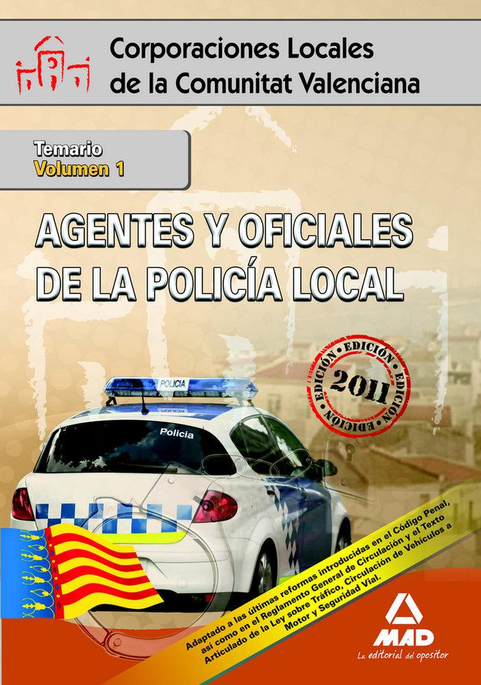 Agentes y oficiales de la policia local de la comunitat vale
