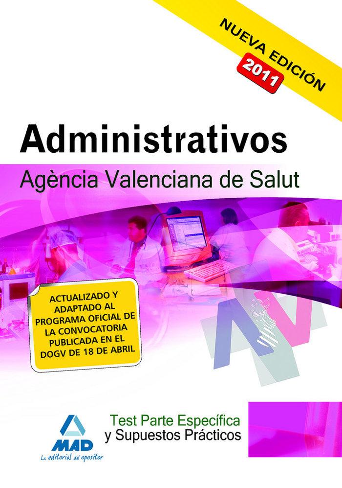 Administrativos, agencia valenciana de salud. test de la par