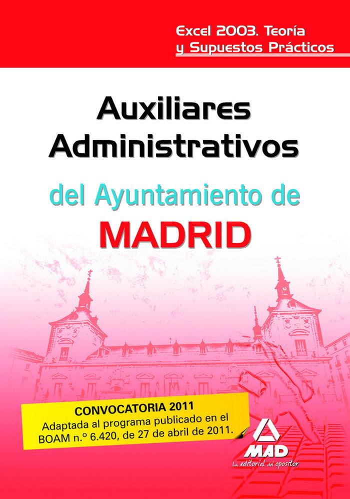 Auxiliares administrativos, ayuntamiento de madrid, excel 20