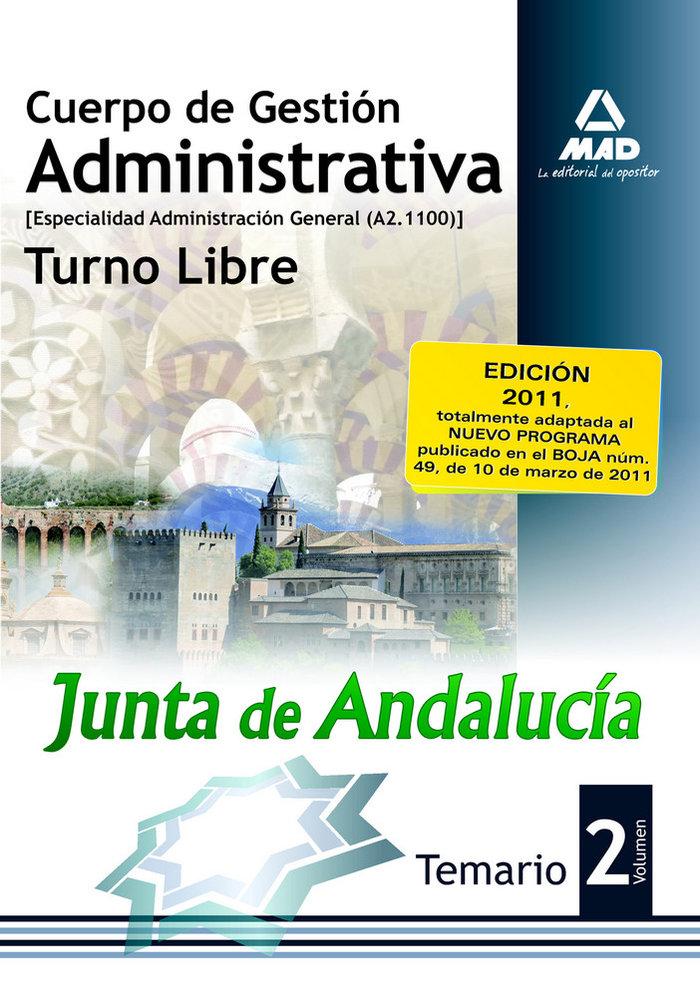 Cuerpo gestion administrativa junta de andalucia libre ii