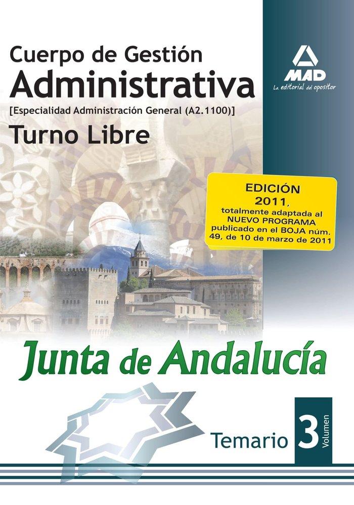 Cuerpo gestion administrativa junta de andalucia libre iii